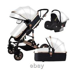 3 In 1 Baby Stroller Luxury Carriages For Newborn Foldable Pram Seat Pushchair