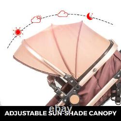 3 in 1 Baby Stroller Buggy With Car Seat Pram Pushchair Convertible Bassinet