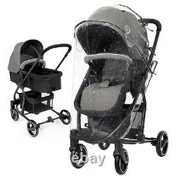 3 in 1 Pushchair Travel Foldable Lightweight Baby Stroller with Rain Cover