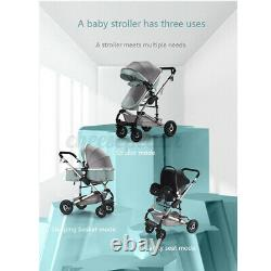 3in1 Baby Stroller Pram Car Seat Pushchair Carry Cot Travel System With Basket