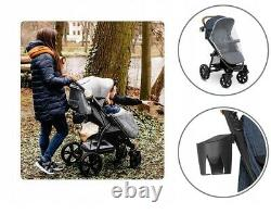 BABY STROLLER KIDS BUGGY PUSHCHAIR WITH FOOT COVER ANNET LIONELO Blue denim
