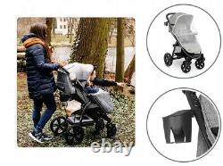 BABY STROLLER KIDS BUGGY PUSHCHAIR WITH FOOT COVER ANNET LIONELO Concrete