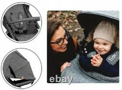 BABY STROLLER KIDS BUGGY PUSHCHAIR WITH FOOT COVER ANNET LIONELO Stone