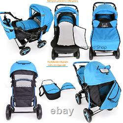 Baby Buggy Colourful Pram Stroller Pushchair Car Seat Carrycot Travel System