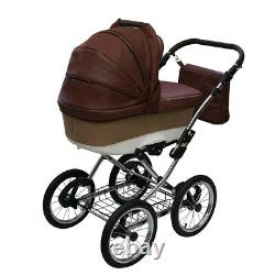 Baby Pram Pushchair and Stroller Buggy Style Retro 3in1 Travel system car seat