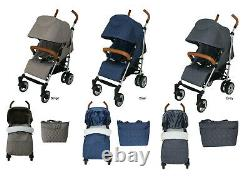 Babyco Sigma Buggy Stroller Pushchair with Raincover Footmuff Changing Bag