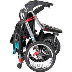 Double Jogger Stroller Side By Side Umbrella Pushchair Baby Kids Travel Tandem