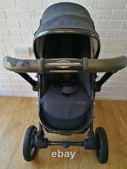 Egg pram Pewter Grey stroller pushchair carrycot limited edition 2in1