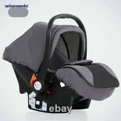 Grey Baby Stroller Car Seat Travel System 3 in 1 Buggy Baby Carriage Pushchair