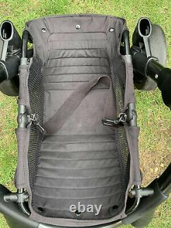 ICandy Peach 3 Double Pram Pushchair Stroller Twin Seat Peacock Space Grey
