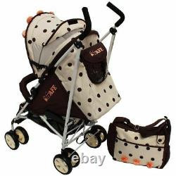 ISafe Full Of Flowers Stroller Pram Buggy Pushchair With Rain Cover + Optional