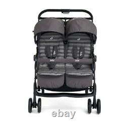 Joie Aire Double Twin Buggy Pushchair Stroller Includes Raincover Dark Pewter