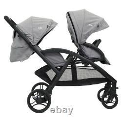Joie Evalite Duo Double Tandem Baby Stroller Buggy -Grey flannel