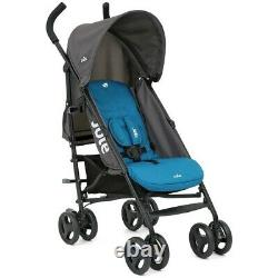 Joie Nitro Blue Pushchair Stroller/buggy With Raincover Fast Free Delivery