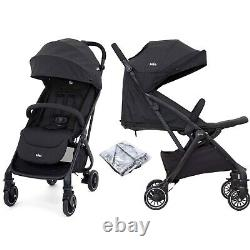 Joie Tourist Pushchair Stroller Coal With Raincover