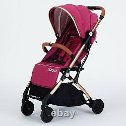 Lejoux Foldable Baby Stroller Pram With Trolley Pull Childrens Pushchair Buggy