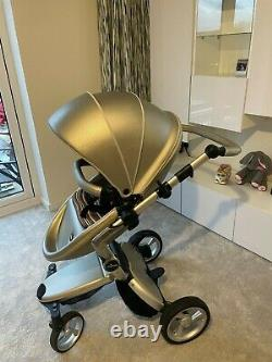 Mima Xari Argento with all accessories included (stroller, pram, pushchair)