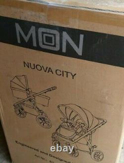 Moon Nuova 2in1 Pram Carry Cot Stroller Buggy Travel System Car Seat Pushchair