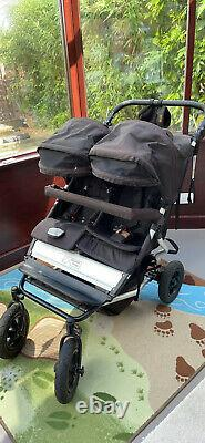 Mountain Buggy Duet Black/Gray Pushchairs Double Seat Stroller