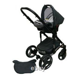 New Baby Eco Leather 3in1 Pram Pushchair Buggy Stroller Car Seat Travel System