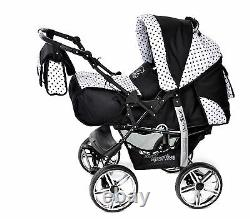 New Baby Pram Buggy Pushchair Stroller Camel Reversible Carrycot All in One SET