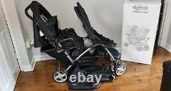 New Graco Stadium Duo Tandem Twin Pushchairs Double Seat Stroller