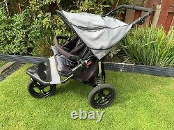 Out'n'About Nipper Double V4 Pushchairs Double Seat Stroller Grey