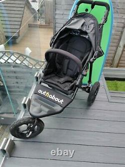 Out n About Nipper Single V4 Pushchairs Single Seat Stroller Raven Black