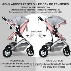 Pink Infant Stroller For Newborn Baby Pushchair Lightweight Foldable 2 in 1 New