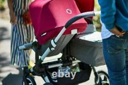 Some NEW! Bugaboo Donkey DUO double stroller pushchair grey and ruby