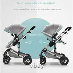 UK New 3 IN 1 Baby Stroller Pram Car Seat Pushchair Carry Cot Travel System &
