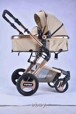 YulDek Baby Pushchair/Stroller with Eco-leather 3 point position, New and modern